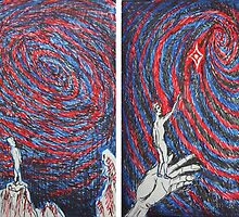 Ink Sketches - Reaching for the Star and Contemplating the Spiral. 2012 by Igor Pozdnyakov