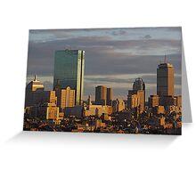 Boston skyline Greeting Card