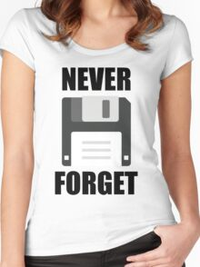 Never Forget Women's Fitted Scoop T-Shirt