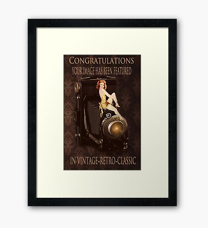 BANNER FOR VINTAGE RETRO CLASSIC GROUP Framed Print