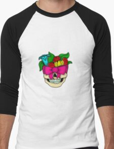 skull roses Men's Baseball ¾ T-Shirt
