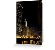 Chicago Illuminated Greeting Card