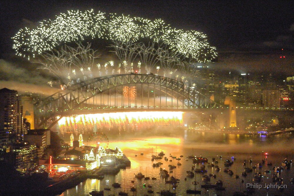 We Will Rock You ! #1 - Sydney Harbour NYE  Fireworks by Philip Johnson