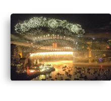 We Will Rock You ! #1 - Sydney Harbour NYE  Fireworks Canvas Print