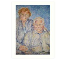 Jamie's Grandparents Art Print