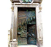 Doors of Saint Nicholas' Cathedral, Ljubljana, Slovenia Photographic Print