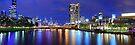 Melbourne City Lights, Victoria, Australia by Michael Boniwell