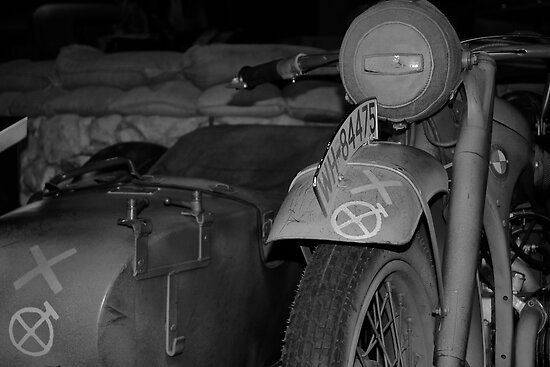 War bike and side car by Matt Hill