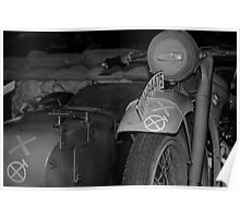 War bike and side car Poster
