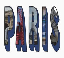 PARIS with Images of the City Kids Tee