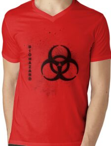 Biohazard Mens V-Neck T-Shirt