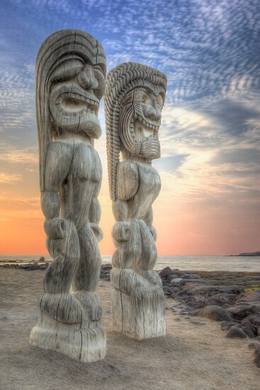 Tiki Statues by Brendon Perkins