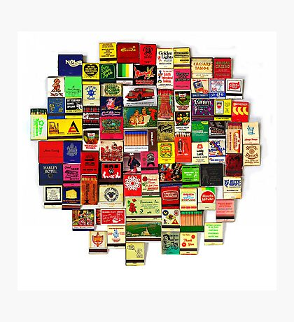 """82 Matchbooks"" Photographic Print"