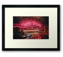 We Will Rock You ! # 3 - Sydney Harbour NYE  Fireworks Framed Print