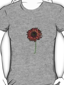 Red Himawari - Zen Sunflower T-Shirt