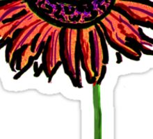 Red Himawari - Zen Sunflower Sticker