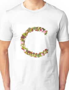 Capital Letter C Part of a set of letters, Numbers and symbols  Unisex T-Shirt