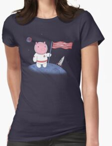 One Small Step for Ham Womens Fitted T-Shirt