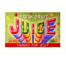 """Fresh Fruit Juice"" Art Print"