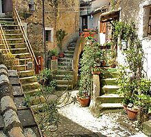 Three Sets-Calcata, Italy by Deborah Downes