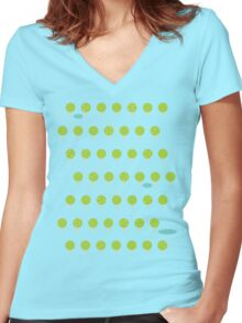 Spring Hike Women's Fitted V-Neck T-Shirt