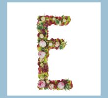Capital Letter E Part of a set of letters, Numbers and symbols  Kids Clothes