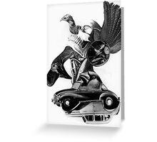Rocking Horse Car Thief. Greeting Card