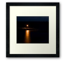 Wool Bay jetty at night Framed Print