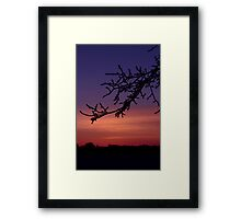 Sub zero landscape Framed Print