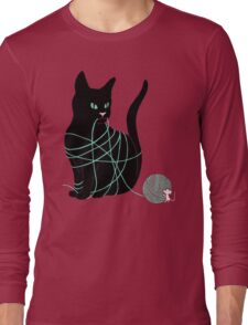 Caught Cat Long Sleeve T-Shirt