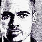 Brad Pitt  by Mary Ellen Garcia