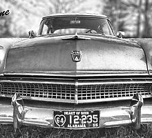 "55 Ford Customline, Grill'n - B&W by Michael "" Dutch "" Dyer"