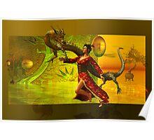 the dragon....oriental Poster