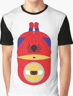 Despicable Me Minions Superheros Spiderman Graphic T-Shirt