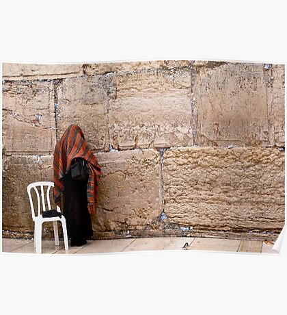 A Woman At The Western Wall Poster