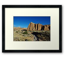Cathedral Valley impression Framed Print