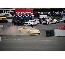 Corvette - Out of Control Photographic Print
