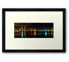 Panoramic View of San Diego at Night Framed Print