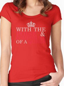 With the Poise & Composure of a Queen #2 (Light Text) Women's Fitted Scoop T-Shirt