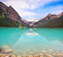 Lake Louise Tranquility by George Oze