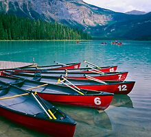 Canoes  at a Dock by George Oze
