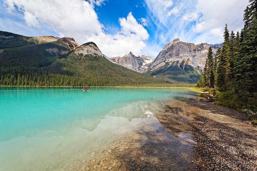 Emerald Lake Scenic by George Oze