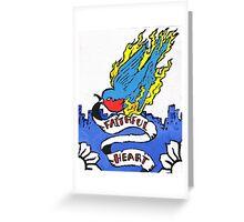 Faithful heart Greeting Card