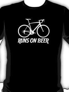 Runs on Beer - Road Bike T-Shirt