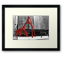 Flamingo Sculpture Framed Print