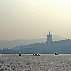 Mystic Pagoda on water by alex9mm
