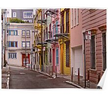 Russian Hill Alleyway Poster
