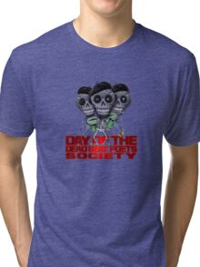 Day of the Dead Beat Poets Society  Tri-blend T-Shirt