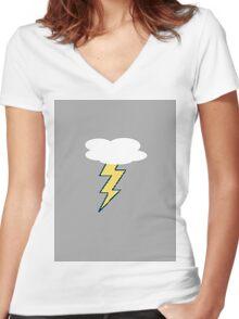 A lot like Lightning Women's Fitted V-Neck T-Shirt
