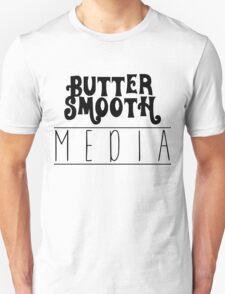 Original ButterSmoothMedia Black on White T-Shirt